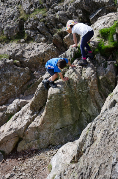 Megan and William opting for a challenging route.