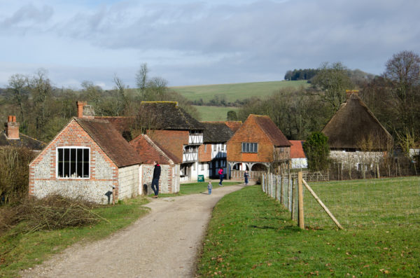 A collection of traditional rural buildings